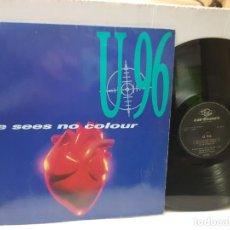 Discos de vinilo: MAXI SINGLE-U96-LOVE SEES NO COLOUR- EN FUNDA ORIGINAL 1993. Lote 242978040