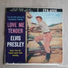Discos de vinilo: ELVIS LOVE ME TENDER. Lote 242978380