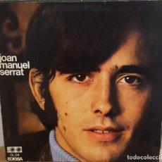 Discos de vinilo: LP / JOAN MANUEL SERRAT - JOAN MANUEL SERRAT, LAS LETRAS EN LA CONTRAPORTADA, 1968. Lote 242979535