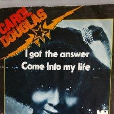 "Discos de vinilo: SINGLE DE CAROL DOUGLAS "" I GOT THE ANSWER "" / EDITADO POR MIDSONG EN 1979. Lote 235193525"