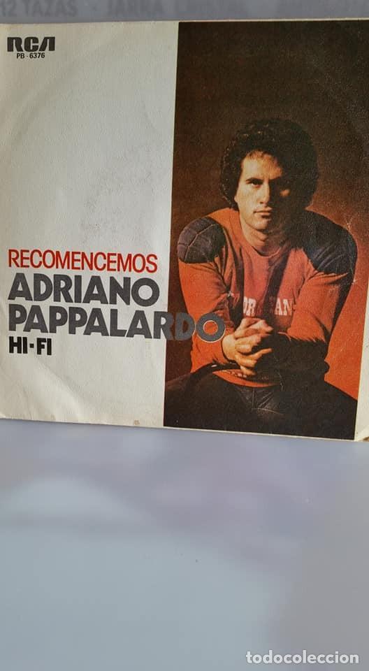 "SINGLE DE ADRIAN PAPALARDO / "" RECOMENCEMOS "" / EDITADO POR RBA RECORDS / EN 1979 (Música - Discos - Singles Vinilo - Canción Francesa e Italiana)"