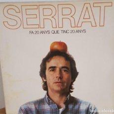 Discos de vinilo: LP / JOAN MANUEL SERRAT - FA 20 ANYS QUE TINC 20 ANYS, CONTIENE ENCARTE CON LAS LETRAS, 1984. Lote 242983945