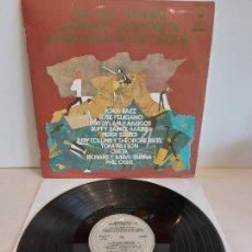 Discos de vinilo: LOS MÁS GRANDES CANTANTES FOLKLÓRICOS AMERICANOS DE LOS AÑOS 60 / LP-1972 / MBC. ***/***. Lote 242986650