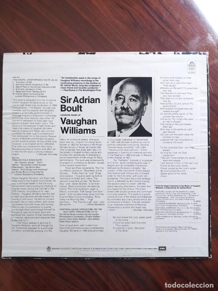 Discos de vinilo: Vaughan Williams*, Sir Adrian Boult, London Philharmonic Orchestra* – Sir Adrian Boult - S-37276 - Foto 2 - 242987650