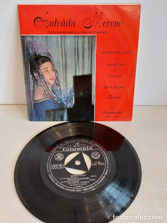 ANTOÑITA MORENO / SAETAS / COMO REINA ENTRE LA GENTE / EP - COLUMBIA-1960 / MBC. ***/*** (Música - Discos de Vinilo - EPs - Flamenco, Canción española y Cuplé)