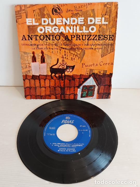 ANTONIO APRUZZESE / EL DUENDE DEL ORGANILLO / EP - FIDIAS-1966 / MBC. ***/*** (Música - Discos de Vinilo - EPs - Clásica, Ópera, Zarzuela y Marchas)