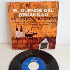 Discos de vinilo: ANTONIO APRUZZESE / EL DUENDE DEL ORGANILLO / EP - FIDIAS-1966 / MBC. ***/***. Lote 242995405