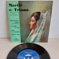 Discos de vinilo: MARIFÉ DE TRIANA / SEÑOR SARGENTO RAMÍREZ / EP - COLUMBIA-1963 / MBC. ***/***. Lote 242996185
