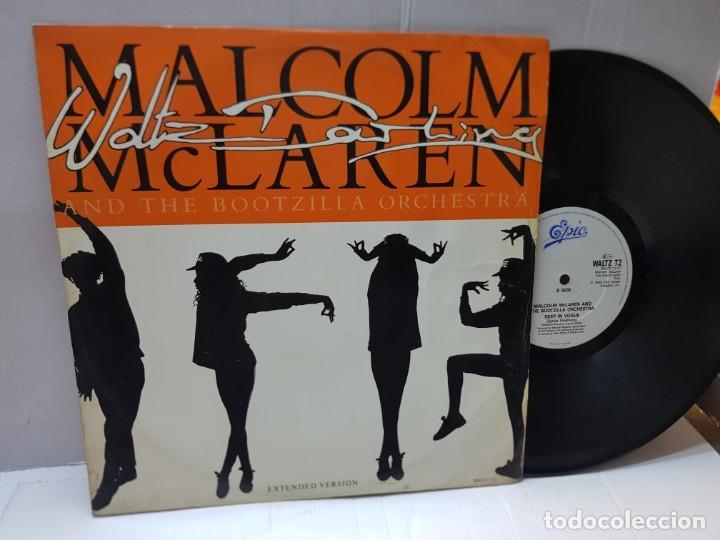 MAXI SINGLE-MALCOLM MCLAREN AND THE BOOTZILLA ORCHESTRA-DEEP IN VOGUE- EN FUNDA ORIGINAL 1989 (Música - Discos de Vinilo - EPs - Techno, Trance y House)