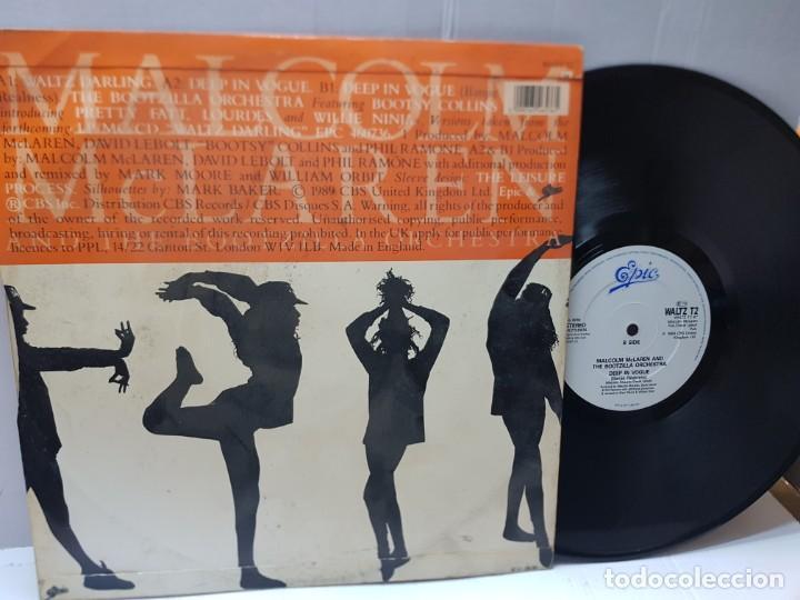 Discos de vinilo: MAXI SINGLE-MALCOLM MCLAREN AND THE BOOTZILLA ORCHESTRA-DEEP IN VOGUE- en funda original 1989 - Foto 2 - 242996215