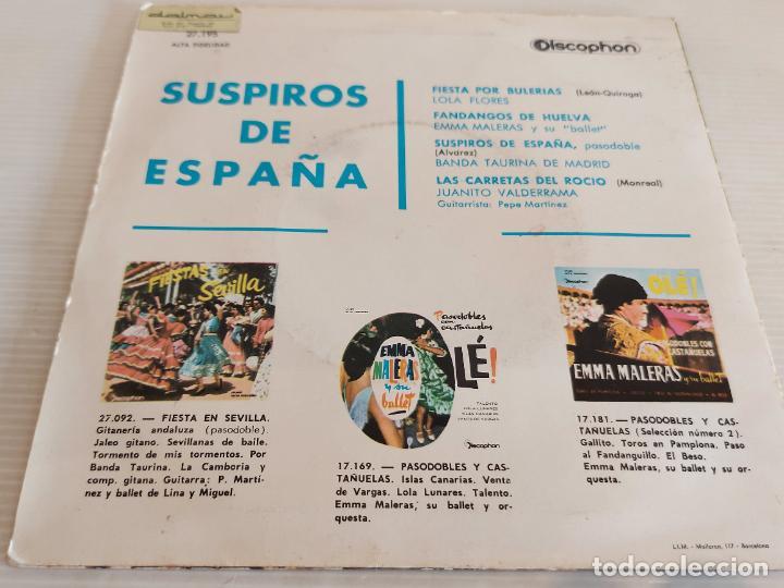 Discos de vinilo: SUSPIROS DE ESPAÑA / VARIOS ARTISTAS / EP - DISCOPHON-1963 / MBC. ***/*** - Foto 2 - 242996405