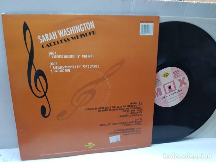 Discos de vinilo: MAXI SINGLE-SARAH WASHINGTON-CARELESS WHISPER- en funda original 1993 - Foto 2 - 242997100