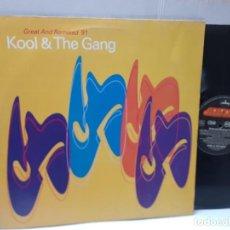 Discos de vinilo: MAXI SINGLE-KOOL & THE GANG-GREAT AND REMIXED 91- EN FUNDA ORIGINAL 1991. Lote 242997985