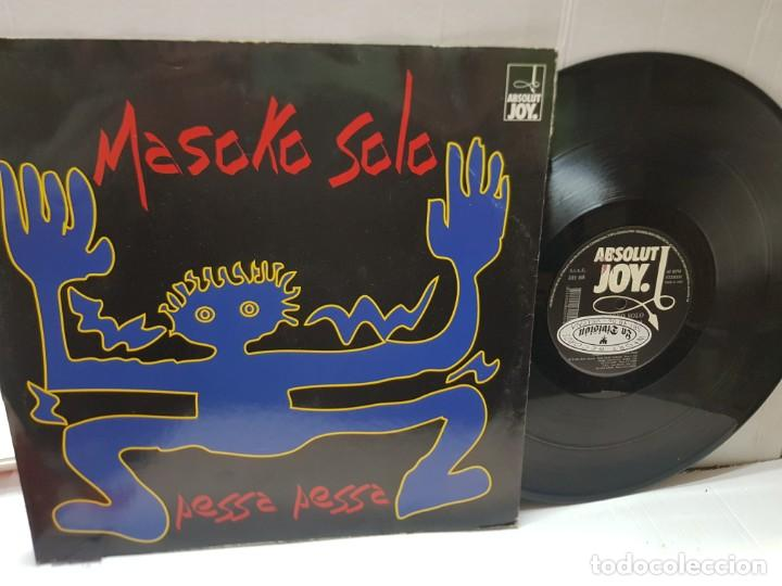 MAXI SINGLE-MASOKO SOLO-PESSA PESSA- EN FUNDA ORIGINAL 1994 (Música - Discos de Vinilo - EPs - Techno, Trance y House)