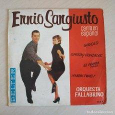 Discos de vinilo: ENNIO SANGIUSTO - GIGOLO / SPEEDY GONZALES / EL PIRATA / HABIBI TWIST EP 1962 BELTER SPAIN. Lote 243003325