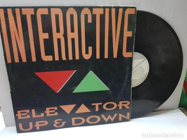 MAXI SINGLE-INTERACTIVE-ELEVATOR UP & DOWN- EN FUNDA ORIGINAL 1992 (Música - Discos de Vinilo - EPs - Techno, Trance y House)