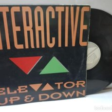 Discos de vinilo: MAXI SINGLE-INTERACTIVE-ELEVATOR UP & DOWN- EN FUNDA ORIGINAL 1992. Lote 243004260