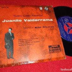 Discos de vinilo: JUANITO VALDERRAMA & NIÑO RICARDO CARACOLES CASTANEROS/LLANTO SERRANO +2 EP 7'' 195? ARGENTINA RARO. Lote 243011345