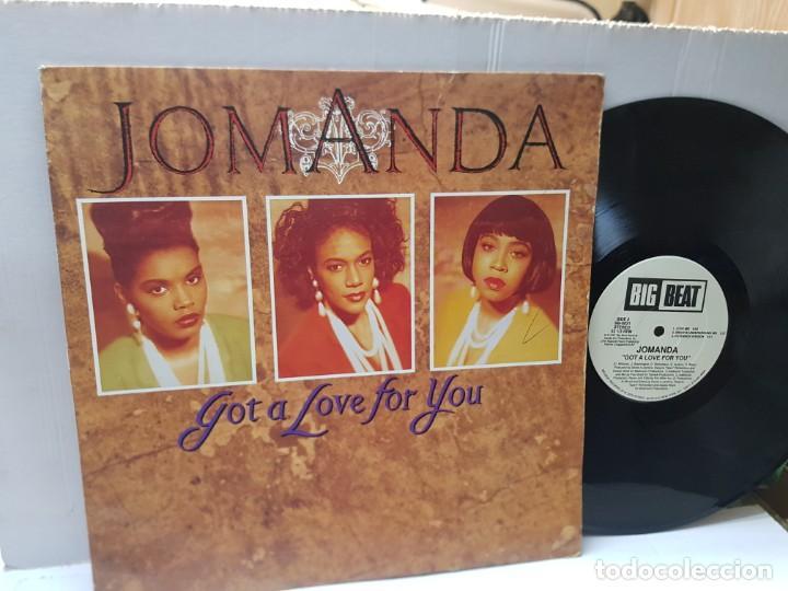 MAXI SINGLE 33 1/3-JOMANDA-GOT A LOVE FOR YOU- EN FUNDA ORIGINAL 1991 (Música - Discos de Vinilo - Maxi Singles - Grupos Españoles de los 90 a la actualidad)