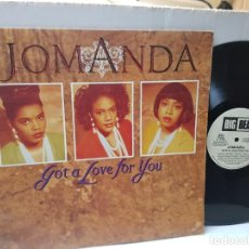 Discos de vinilo: MAXI SINGLE 33 1/3-JOMANDA-GOT A LOVE FOR YOU- EN FUNDA ORIGINAL 1991. Lote 243013680