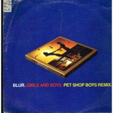 Discos de vinilo: BLUR - GIRLS & BOYS, PET SHOP BOYS REMIX - MAXI SINGLE 1994 - ED. ITALIA. Lote 243028995
