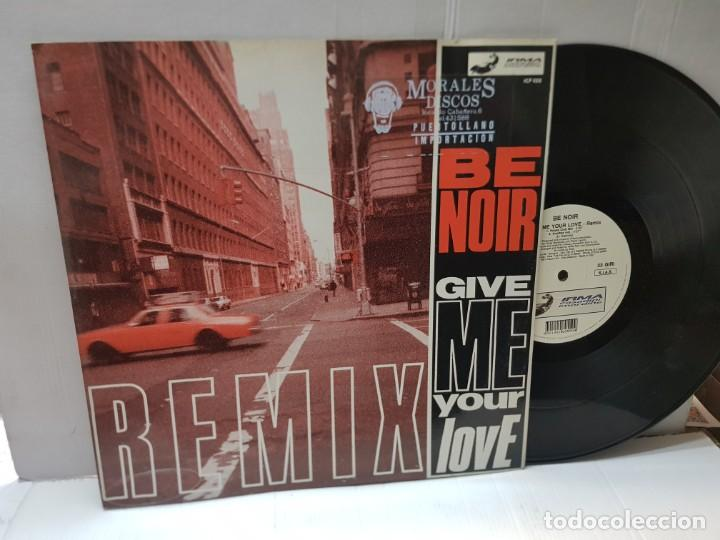 DISCO 33 REMIX-BE NOIR-CIVE ME YOUR LOVE- EN FUNDA ORIGINAL 1991 (Música - Discos de Vinilo - EPs - Pop - Rock Internacional de los 90 a la actualidad)