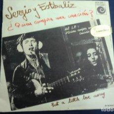 Disques de vinyle: SINGLE SERGIO Y ESTÍBALIZ. ¿QUIÉN COMPRA UNA CANCIÓN?. Lote 243042930
