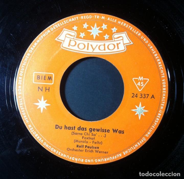 RALF PAULSEN - DU HAST DAS GEWISSE WAS / LA COLETTE - SINGLE ALEMAN - POLYDOR (Música - Discos - Singles Vinilo - Pop - Rock Internacional de los 50 y 60)