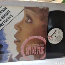 Discos de vinilo: MAXI SINGLE-BEVERLEE-SET ME FREE- EN FUNDA ORIGINAL 1991 EDICION EXCLUSIVA. Lote 243059525