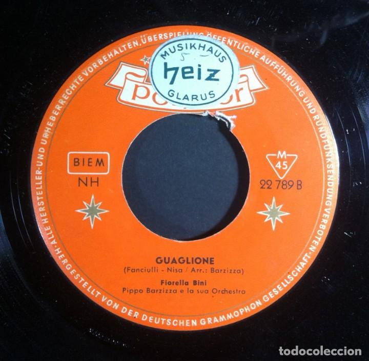 Discos de vinilo: FIORELLA BINI - Ricordate Marcellino / Guaglione - SINGLE ALEMAN 1956 . POLYDOR - Foto 2 - 243059990