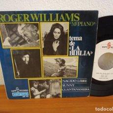 Discos de vinilo: EP ROGER WILLIAMS - TEMA DE LA BIBLIA + 3 - VERGARA (1967). Lote 243068790
