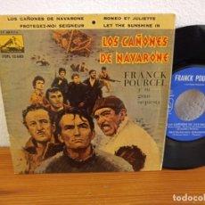 Discos de vinilo: EP FRANCK POURCEL - LOS CAÑONES DE NAVARONE + 3 - VOZ DE SU AMO (1961). Lote 243069480
