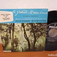 "Discos de vinilo: EP JEAN-PIERRE BOURTAYRE - BSO ""LE GRAND MEAULNES"" - L'ECOLE + 3 - PHILIPS (1968). Lote 243070775"
