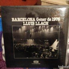Discos de vinilo: LLUÍS LLACH - BARCELONA GENER 1976-. Lote 243082615