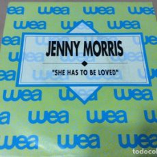 Discos de vinilo: JENNY MORRIS - SHE HAS TO BE LOVED. PROMOCIONAL 1990 - WEA. Lote 243092665