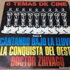 Discos de vinilo: 6 TEMAS DE CINE. CANTANDO BAJO LA LLUVIA. LA CONQUISTA DEL OESTE. DOCTOR ZHIVAGO. +3. POLYDOR 1980.. Lote 243097140