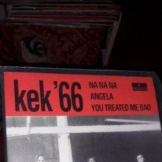 "Discos de vinilo: E.P. 7"" 45 RPM - KEK' 66 ""NA NA NA""//""ANGELA"", ""YOU TREATED ME BAD"" (NEO GARAGE GUERSSEN 1995). Lote 243103995"