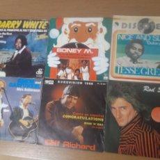 Discos de vinilo: VINILOS BARRY WHITE, BONEY M., JESSE GREEN, SIMON AND GARFUNKEL, CLIFF RICHARD, ROD STEWART. Lote 243109025
