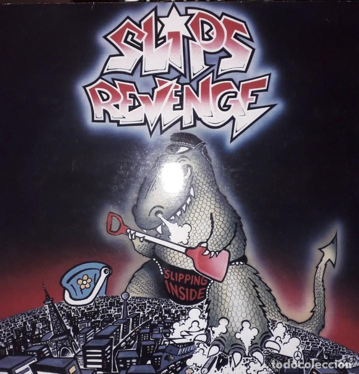 "MAXI E.P. 12"" - SLIPS REVENGE - SLIPPING INSIDE (1990 PUNK-ROCK)-RED VINYL!!! (Música - Discos de Vinilo - EPs - Pop - Rock Internacional de los 90 a la actualidad)"