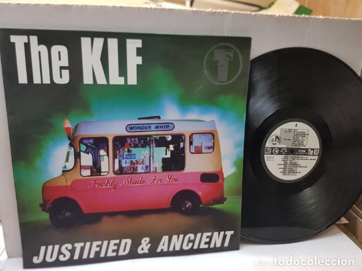DISCO EPS 33 -THE KLF-JUSTIFIED & ANCIENT- EN FUNDA ORIGINAL 1991 (Música - Discos de Vinilo - EPs - Pop - Rock Internacional de los 90 a la actualidad)