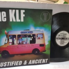 Discos de vinilo: DISCO EPS 33 -THE KLF-JUSTIFIED & ANCIENT- EN FUNDA ORIGINAL 1991. Lote 243138025