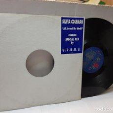 Discos de vinilo: DISCO EPS 33 -SILVIA COLEMAN-ALL AROUND THE WORLD- EN FUNDA ORIGINAL 1994. Lote 243139565