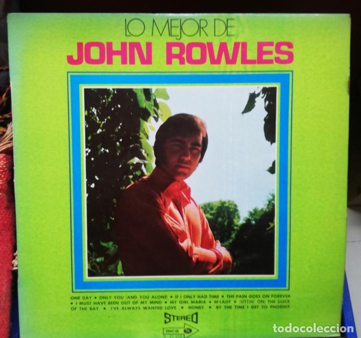 LO MEJOR DE JOHN ROWLES (Música - Discos - LP Vinilo - Pop - Rock Internacional de los 50 y 60)