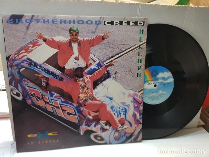 DISCO EPS 33 1/3 -BROTHERHOOD CREED BHC-HELLUVA- EN FUNDA ORIGINAL 1992 (Música - Discos de Vinilo - EPs - Pop - Rock Internacional de los 90 a la actualidad)