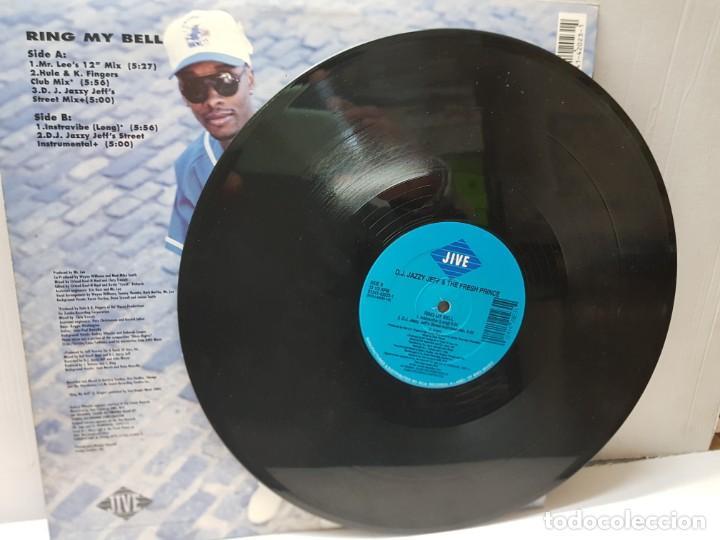 Discos de vinilo: DISCO MAXI SINGLE 33 1/3 -D.J. JAZZY JEFF & THE FRESH PRINCE-RING MY BELL- en funda original 1991 - Foto 3 - 243177625