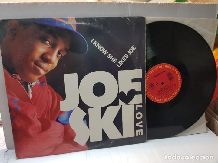 DISCO MAXI SINGLE 33 1/3 -JOESKI LOVE-I KNOW SHE LIKES JOE- EN FUNDA ORIGINAL 1990 (Música - Discos de Vinilo - Maxi Singles - Pop - Rock Internacional de los 90 a la actualidad)