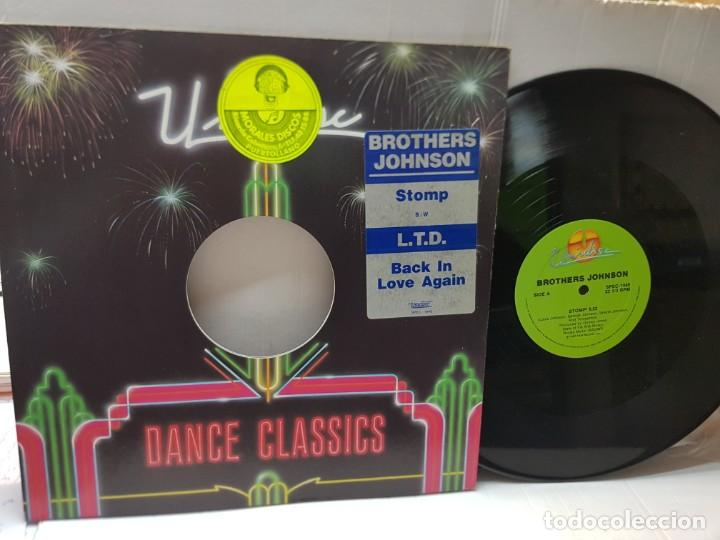 DISCO EPS 33 1/3 -BROTHER JOHNSON-STOMP- EN FUNDA ORIGINAL 1980 (Música - Discos de Vinilo - EPs - Pop - Rock Internacional de los 90 a la actualidad)
