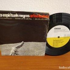 Discos de vinilo: EP ORFEO LLEIDATÀ - CANTS ESPIRITUALS NEGRES (II)- OH! DÉU MEU + 3 - EDIGSA (1965). Lote 243181220