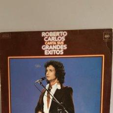 Discos de vinilo: LP.DE ROBERTO CARLOS, -- GRANDES ÉXITOS -- EDITADO POR CBS.EN 1978. Lote 235089260