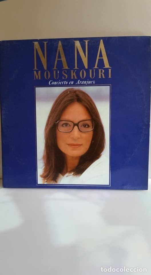 DOBLE LP DE NANA MOUSKOURI / CONCIERTO EN ARANJUEZ / 1989. (Música - Discos - LP Vinilo - Cantautores Extranjeros)